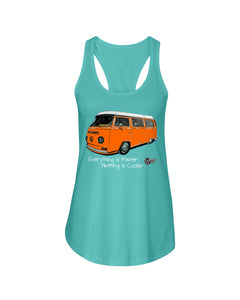 Everything Is Faster Nothing Is Cooler Women's Racerback Tank Top, - Aircooled VW - Vintage Vdub