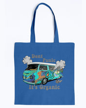 Load image into Gallery viewer, Don't Panic It's Organic Canvas Tote, - Aircooled VW - Vintage Vdub