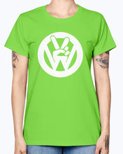 Load image into Gallery viewer, Peace Sign Women's T-Shirt, - Aircooled VW - Vintage Vdub