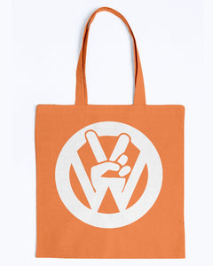Peace Sign Canvas Tote, - Aircooled VW - Vintage Vdub
