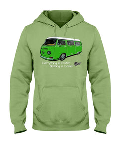 Everything Is Faster Nothing Is Cooler Hoodie, - Aircooled VW - Vintage Vdub