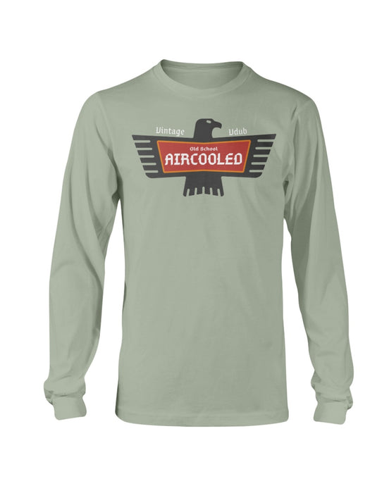 Old School Aircooled V.2 Men's Long Sleeve, - Aircooled VW - Vintage Vdub