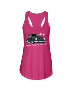 The Bug Gets What The Bug Wants Women's Racerback Tank Top, - Aircooled VW - Vintage Vdub