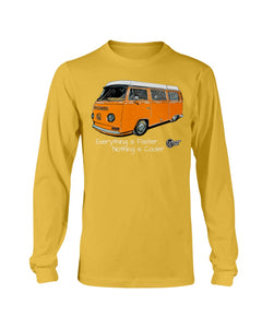 Everything Is Faster Nothing Is Cooler Men's Long Sleeve, - Aircooled VW - Vintage Vdub