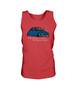 Everything Is Faster Nothing Is Cooler Men's Tank Top, - Aircooled VW - Vintage Vdub