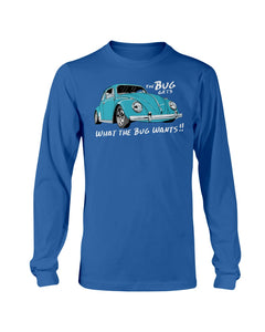 The Bug Gets What The Bug Wants Men's Long Sleeve, - Aircooled VW - Vintage Vdub