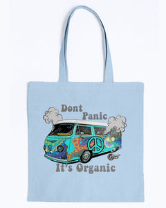 Don't Panic It's Organic Canvas Tote, - Aircooled VW - Vintage Vdub