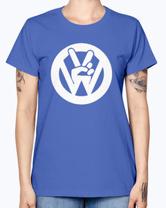 Peace Sign Women's T-Shirt, - Aircooled VW - Vintage Vdub
