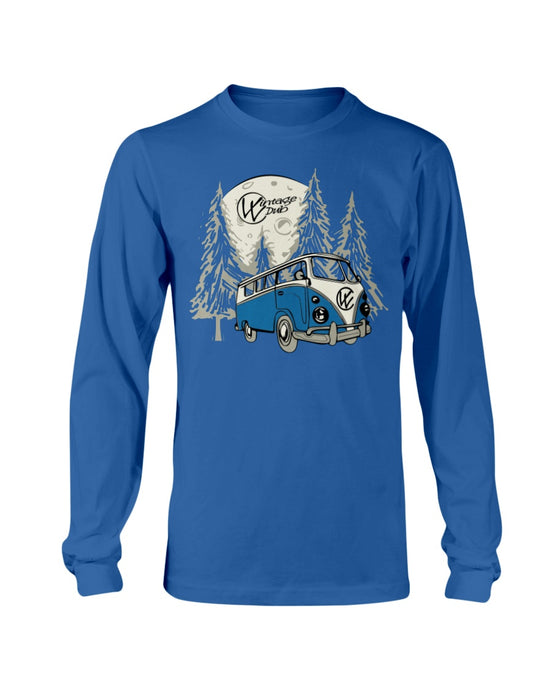 Moonlight Drive Men's Long Sleeve, - Aircooled VW - Vintage Vdub