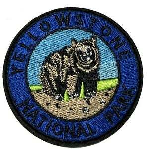 Yellowstone National Park Embroidered Patch, - Aircooled VW - Vintage Vdub