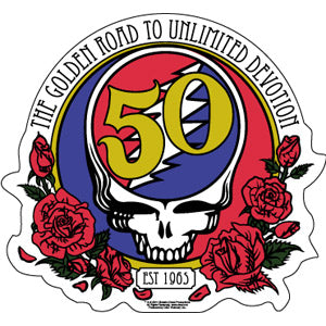 "Grateful Dead ""50th Anniversary"" Sticker"