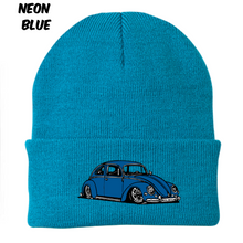 Load image into Gallery viewer, Vintage Bug Beanie (Blue), - Aircooled VW - Vintage Vdub