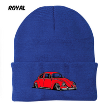Load image into Gallery viewer, Vintage Bug Beanie (Red), - Aircooled VW - Vintage Vdub