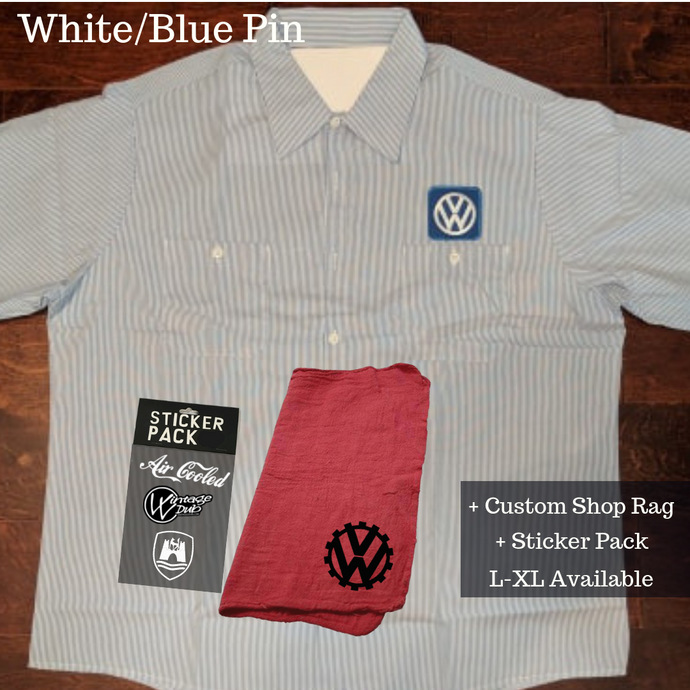 Gear Pack  White/ Blue Pin (SHIPS U.S. ONLY), - Aircooled VW - Vintage Vdub