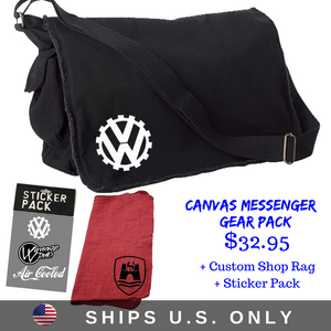 "Canvas Messenger Gear Pack"", - Aircooled VW - Vintage Vdub"