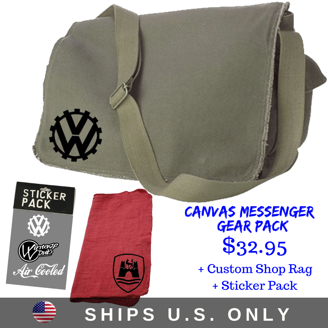 Canvas Messenger Gear Pack, - Aircooled VW - Vintage Vdub