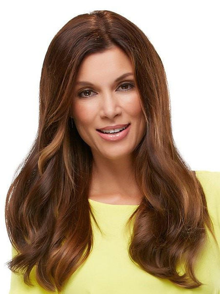 "18"" TOP FORM EXCLUSIVE COLORS ""Human Hairpiece""-Women's Top Pieces/Toppers-JON RENAU-4RN 