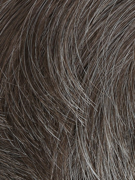 EDGE-Men's Wigs-HIM-M36S | Light Ash Brown With 20% Grey Blend-SIN CITY WIGS