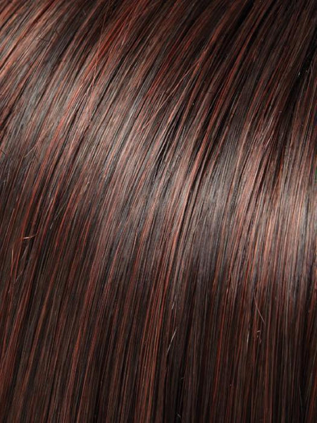 GABRIELLE-Women's Wigs-JON RENAU-4/33 CHOCLATE RASPBERRY | Darkest Brown and Medium Red Blend-SIN CITY WIGS