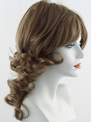 KNOCKOUT *Human Hair Wig*-Women's Wigs-RAQUEL WELCH-R12/26H Honey Pecan-SIN CITY WIGS