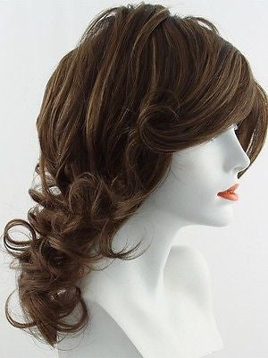 KNOCKOUT *Human Hair Wig*-Women's Wigs-RAQUEL WELCH-R12T Pecan Brown-SIN CITY WIGS