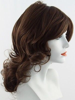 KNOCKOUT *Human Hair Wig*-Women's Wigs-RAQUEL WELCH-R6/30H Chocolate Copper-SIN CITY WIGS