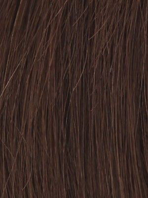 PLF 005HM *Human Hair Wig*-Women's Wigs-LOUIS FERRE-DARK CHOCOLATE-SIN CITY WIGS