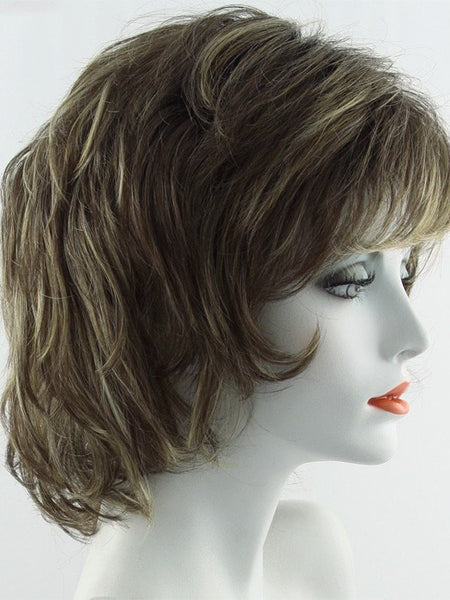 SALSA-Women's Wigs-RAQUEL WELCH-SS8/25 SHADED GOLDEN WALNUT-SIN CITY WIGS