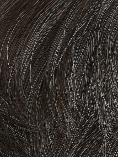 STYLE-Men's Wigs-HIM-M34S - Medium Brown With 10% Grey Blend-SIN CITY WIGS