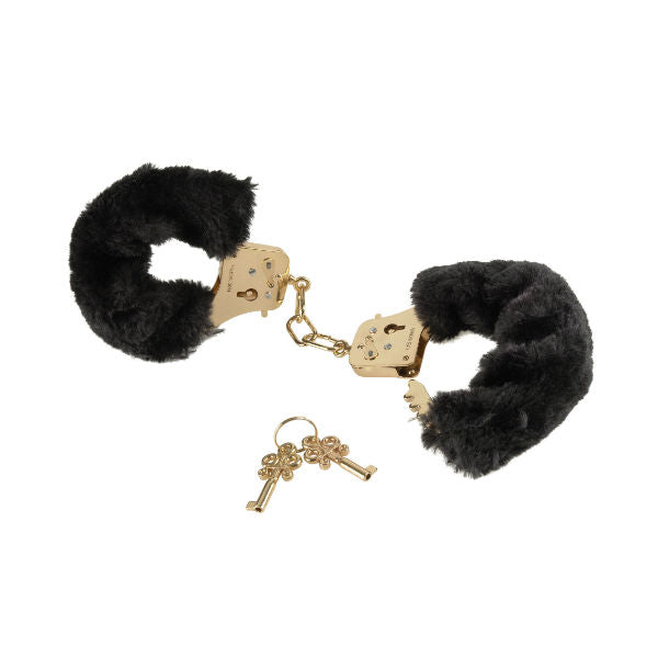 Pipedream Fetish Fantasy Gold Deluxe Furry Cuffs