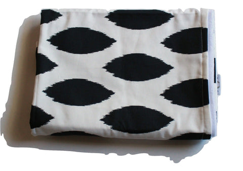 Black and White Abstract Blanket