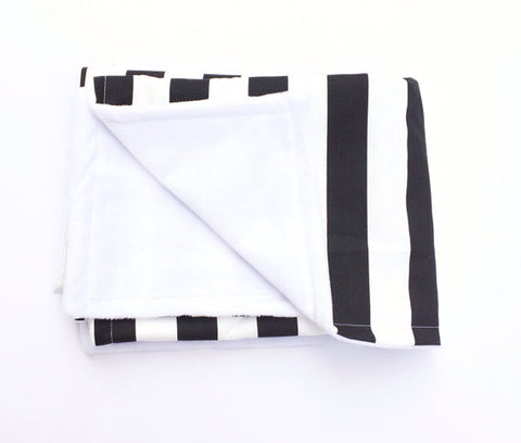 Black and White Stripe Blanket