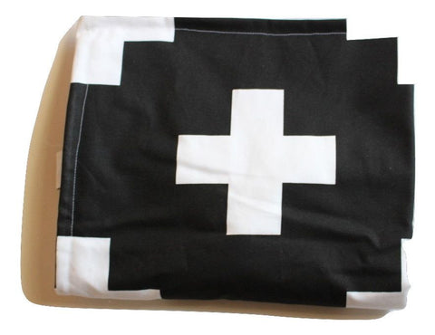 Black and White Cross Blanket