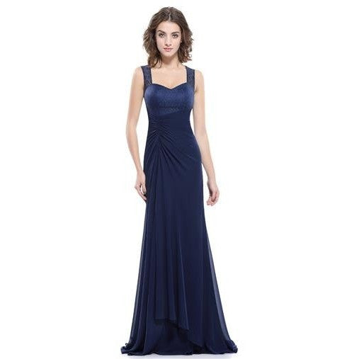Blue & Navy Bridesmaid Bride Evening Prom Dresses