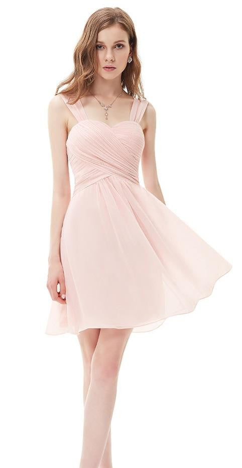 Anna pale pink short bridesmaid wedding occasion dress uk for Short wedding dresses uk only