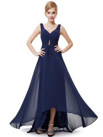 CERYS Dress - Navy Blue - Belle Boutique UK