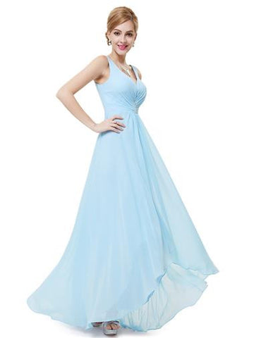 CERYS Dress - Pale Blue - Belle Boutique UK