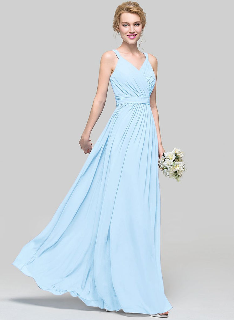 DARCY Pale Baby Blue Long Bridesmaid Wedding Evening Dress UK