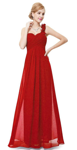 ELODIE Long Dress -  Red - Belle Boutique UK