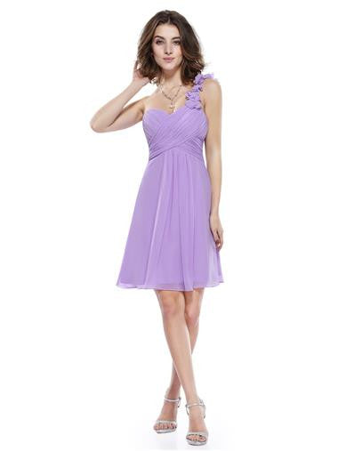 ELODIE Short Dress - Lilac - Belle Boutique UK