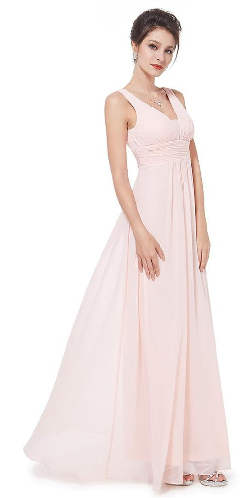 Emily Pink Bridesmaid Wedding Bridal Long Dress UK – Belle Boutique UK