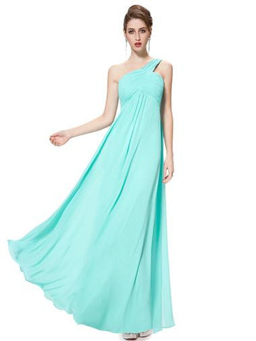 EVE Long Sash Dress - Aqua Turquoise - Belle Boutique UK