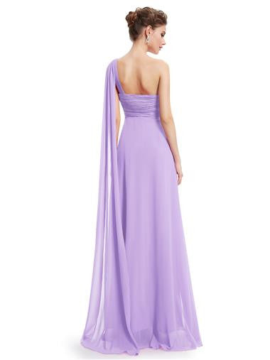 EVE Long Sash Dress - Lilac - Belle Boutique UK