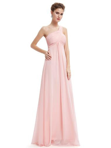 EVE Long Sash Dress - Pale Pink - Belle Boutique UK