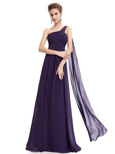 EVE Long Sash Dress - Dark Purple - Belle Boutique UK