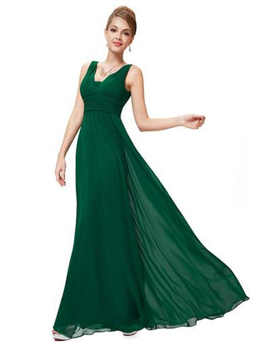 EMILY Dress -  Dark Green - Belle Boutique UK