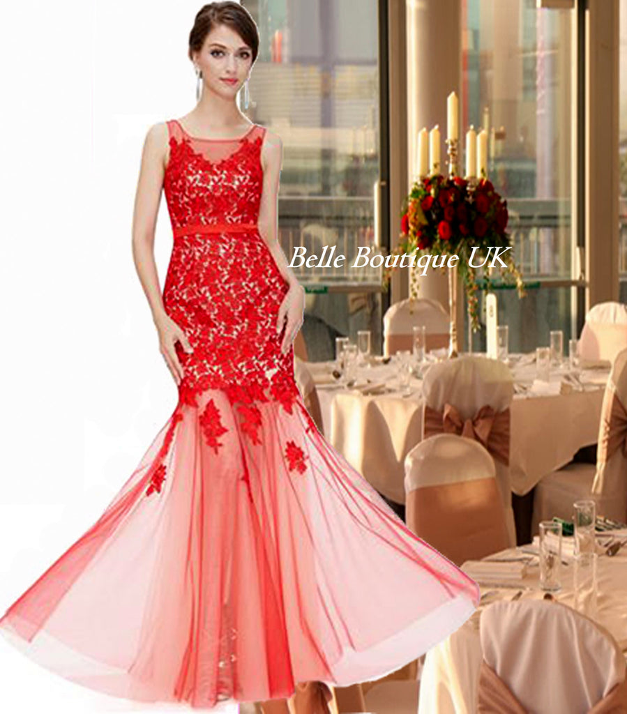 Red burgundy cranberry bridesmaid evening dresses page 2 eva lace dress red belle boutique uk ombrellifo Image collections
