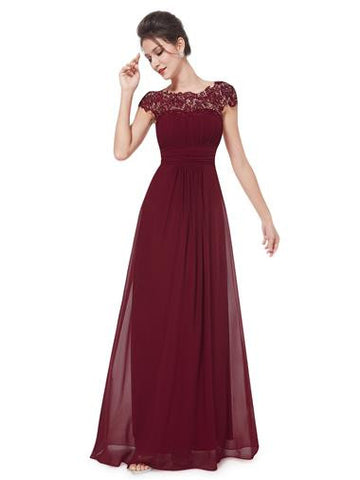 KATIE  Dress - Burgundy - Belle Boutique UK