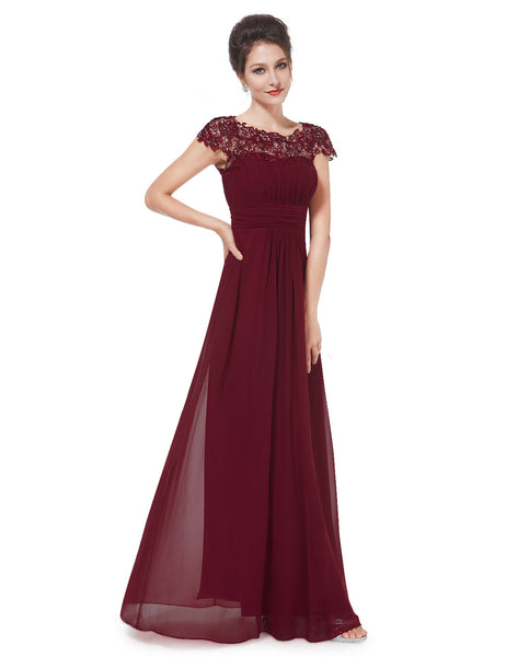 KATIE Dress - Burgundy Wine - Belle Boutique UK