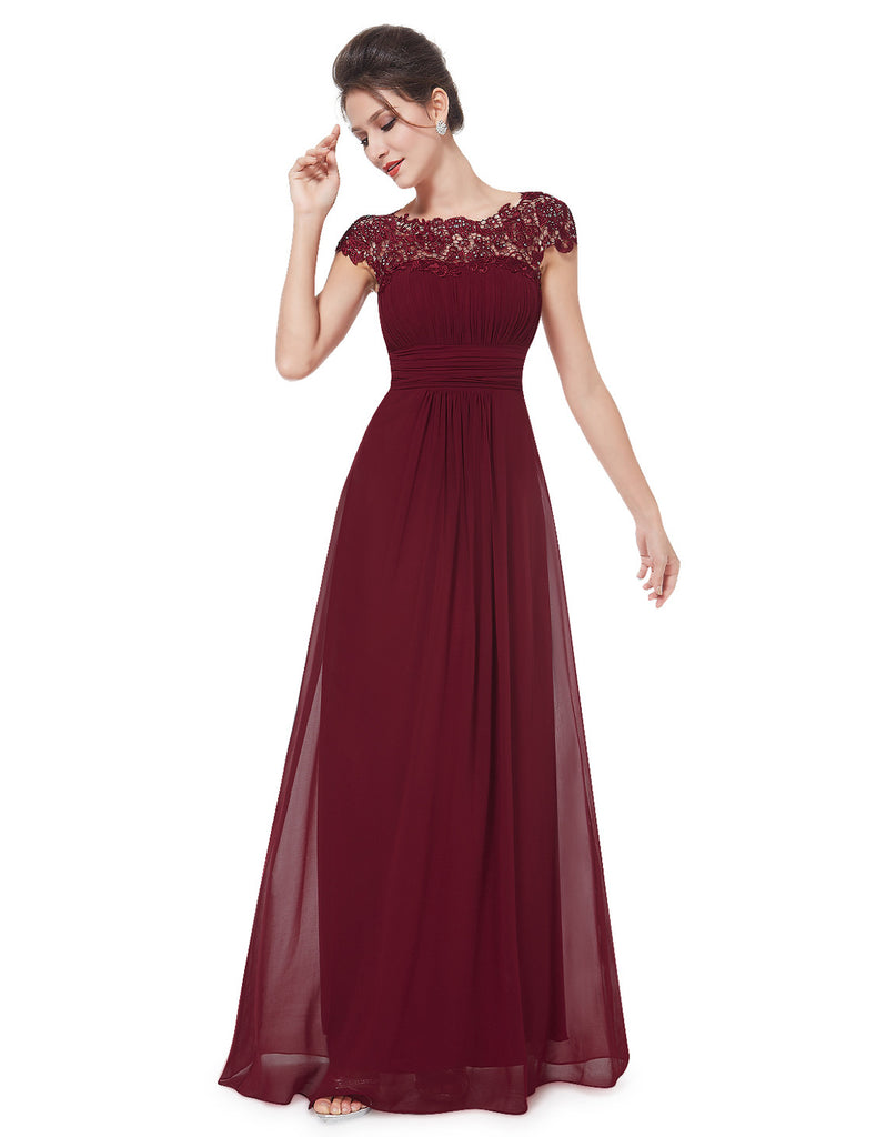 Katie burgundy wine red lace long bridesmaid evening dress uk katie dress burgundy wine belle boutique uk ombrellifo Choice Image